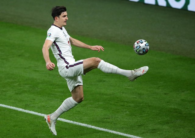 Harry Maguire of England during the UEFA European Championships final match at Wembley Stadium, London. Picture: David Klein / Sportimage