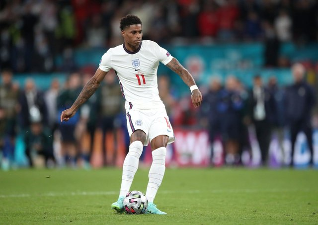 England and Manchester United footballer Marcus Rashford are campaigning to end child food poverty.