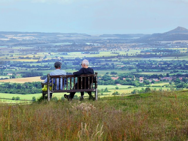 Taking in the view from Lordstones Country Park. Picture: Gary Longbottom.