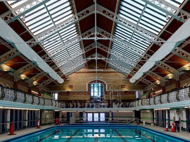 Hull's oldest working baths are slated to reopen in August Photo: Hodson Architects