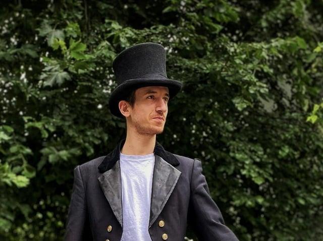 Emilio Iannucci as Phileas Fogg. (Picture: York Theatre Royal).