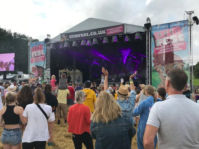 Definitely Dolly entertains the crowds at Tribfest, Sledmere
