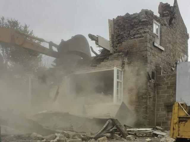 The Royal Oak pub in Mosborough, Sheffield, is demolished (pic: Candy Wilson)