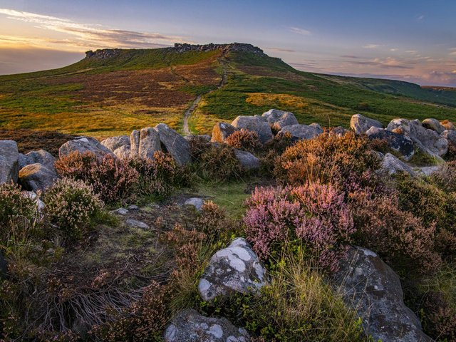 Higger Tor from Carl Wark. Picture: Tony Johnson.