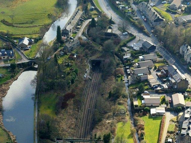Summit Tunnel aerial image from the Walsden end