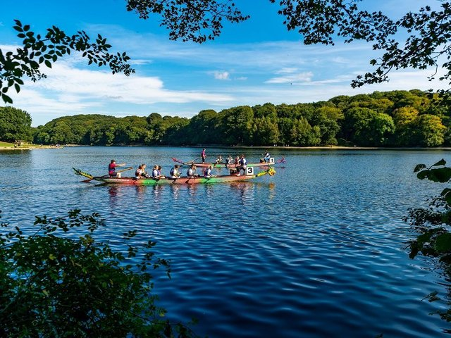 The Leeds Dragon Boat Race on Waterloo Lake at Roundhay Park. (Pic credit: James Hardisty)