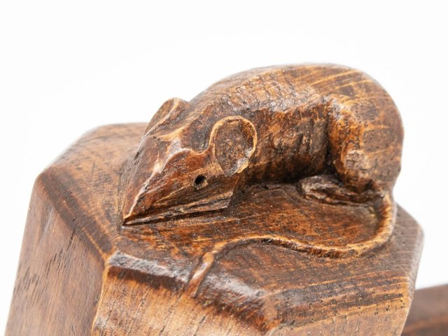 A Mouseman oak carving