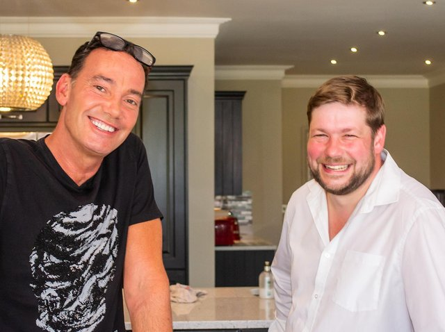 Auctioneer Angus Ashworth with Strictly judge Craig Revel Horwood