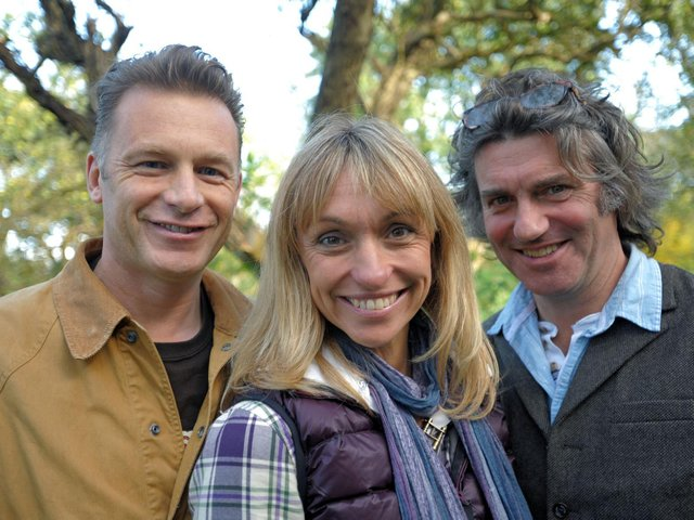 Martin Hughes-Games (right) during his time presenting Springwatch with Michaela Strachan and Chris Packham. Picture: Nigel Slater.