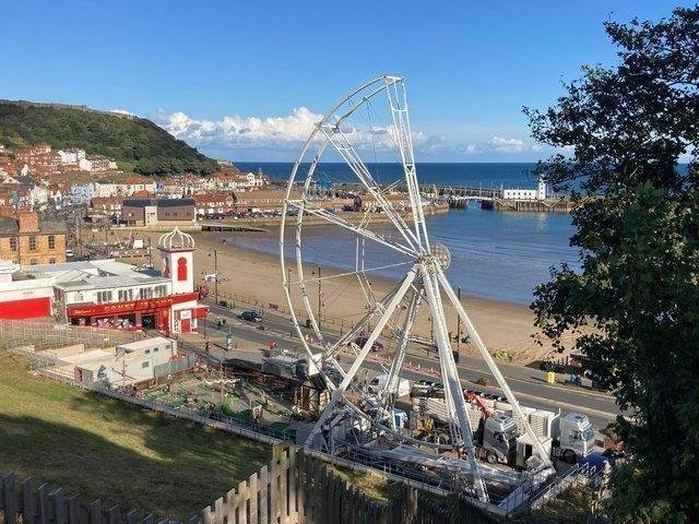 The wheel on Scarborough's seafront is being dismantled.
