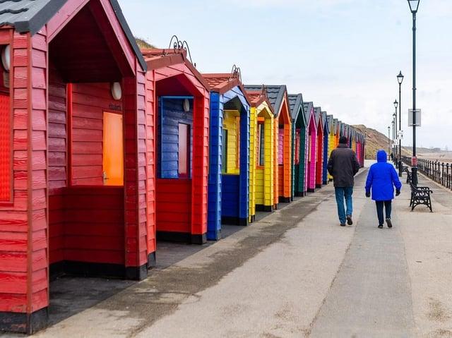 Saltburn beach huts. (Pic credit: James Hardisty)