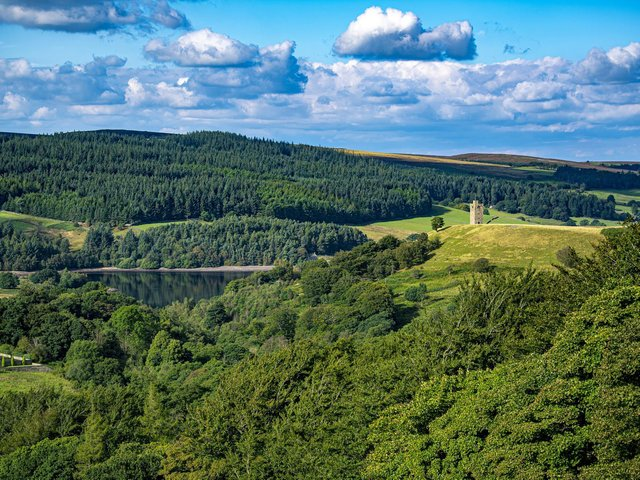 Boot's Folly surrounded by greenery in the Peak District. Picture: Tony Johnson.