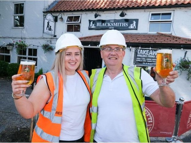 Hannah and Dave are overseeing the transformation of the Blacksmiths Arms.