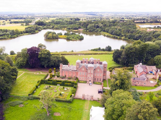 Kiplin Hall and Gardens photographed from above by drone pilot @bigladderphotographer during test flights for the Drone Access Policy.