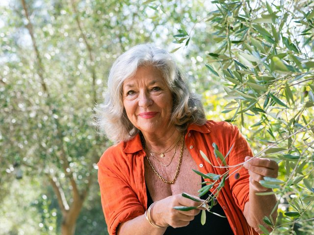 Carol Drinkwater on her farm in the South of France. Credit: Media Sud Productions.