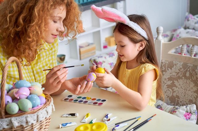 From painting eggs to easter egg hunts and adventure trails - there are plenty of ways to keep kids entertained this Easter (Photo: Shutterstock)