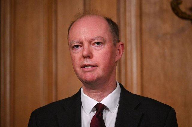 England's Chief Medical Officer Professor Chris Whitty was involved in the decision to reduce the Covid alert level from five to four. (Pic: Getty Images)