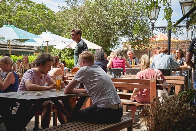 As Covid-19 restrictions lift across the UK, many will be flocking to beer gardens to enjoy the bank holiday (Photo: Shutterstock)