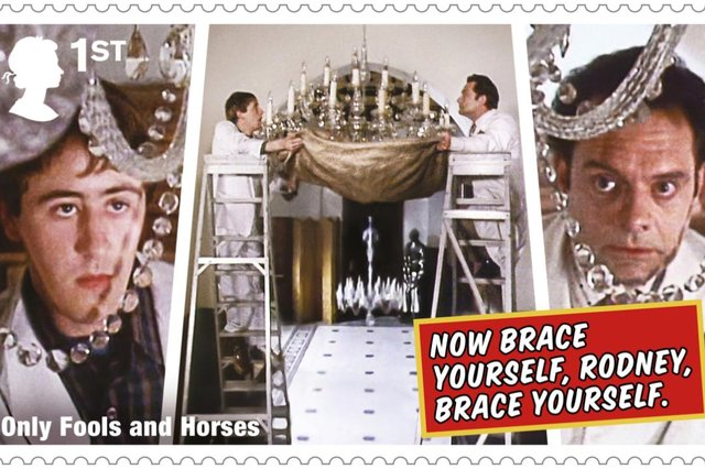 The Royal Mail has issued a special set of Only Fools and Horses stamps. (Pic: PA)