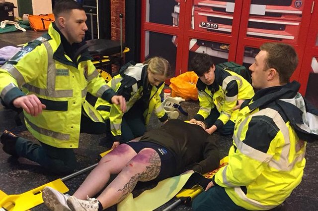 Former firefighter James Sayer decided to completely re-train to become a paramedic