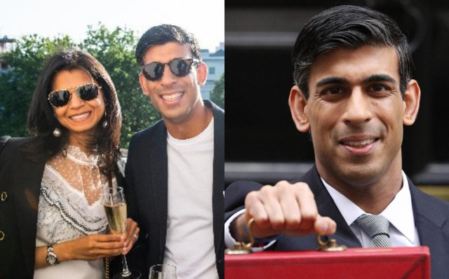 Akshata Murthy and Rishi Sunak met while both studying at Stanford University in California (Twitter/Getty Images)