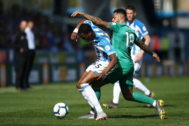 Huddersfield Town's -£41m five-year transfer net spend compared to Cardiff & Reading