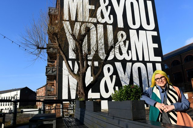 Laura Wellington from 'In Good Company' recently unveiled a new mural from artist Anthony Burrill at The Calls, Leeds.