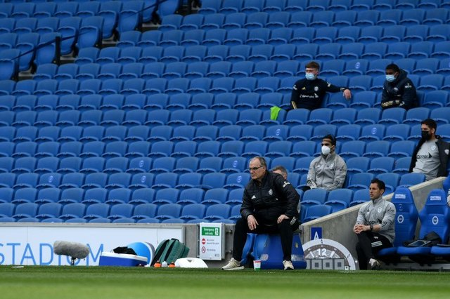 Marcelo Bielsa, Manager of Leeds United. (Photo by Mike Hewitt/Getty Images)