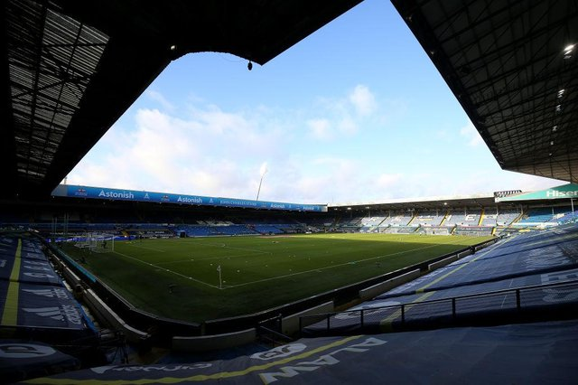 Elland Road, the home of Leeds United Football Club. (Photo by Nigel French - Pool/Getty Images)