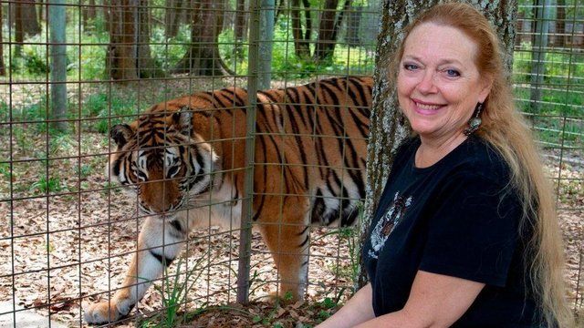 Carole Baskin has criticised Tiger King creators for their presentation of her husband's disappearance (Netflix)