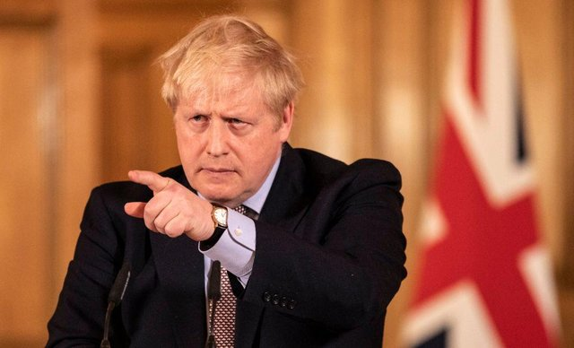 Prime Minister Boris Johnson gives a press conference on the ongoing situation with the coronavirus pandemic with chief medical officer Chris Whitty and Chief scientific officer Sir Patrick Vallance in Downing Street after he had taken part in the government's COBRA meeting on March 16 (Photo: Richard Pohle - WPA Pool/Getty Images)