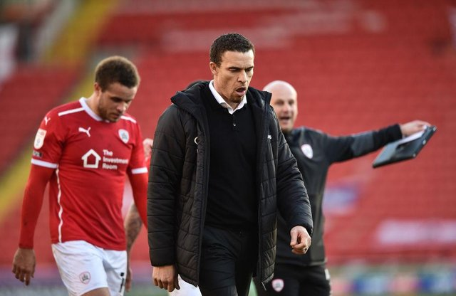 Valerien Ismael manager of Barnsley. (Photo by Nathan Stirk/Getty Images)