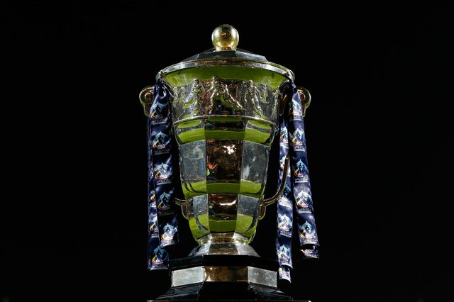 Nations will do battle to get their hands on the Rugby League World Cup trophy when the tournament takes place in England later this year. (Pic: Getty)