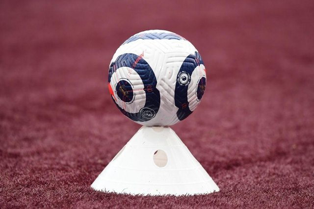 Premier League match ball. (Photo by Neil Hall - Pool/Getty Images)